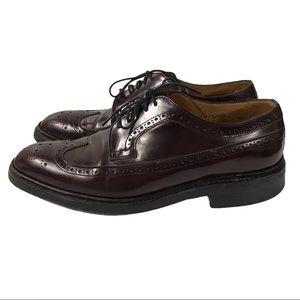 Dack's Dufferin Burgundy Brogue Oxford Shoes